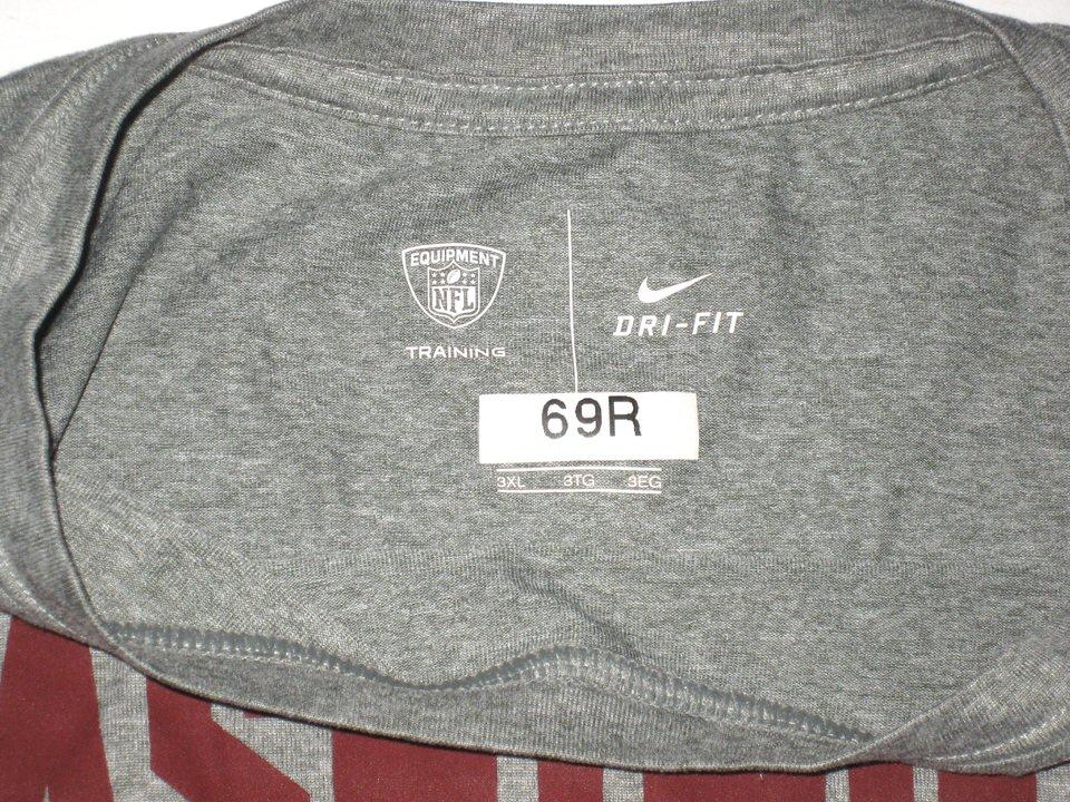 ... AJ Francis Player Issued   Autographed Washington Redskins  69 Nike Dri- Fit 3XL Shirt ... 8a72a167a
