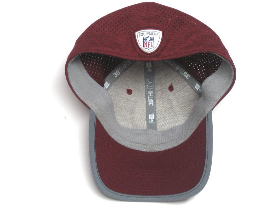 wholesale dealer 846cb eccec ... AJ Francis 2017 Sideline Worn   Signed Official Washington Redskins New  Era 39THIRTY Hat ...