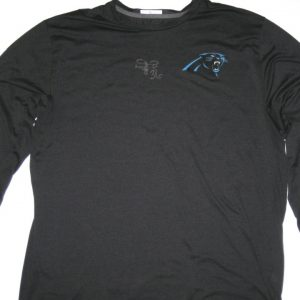 129d79bfb Darrel Young Player Issued   Signed Official Carolina Panthers  36 Long  Sleeve Nike Dri-