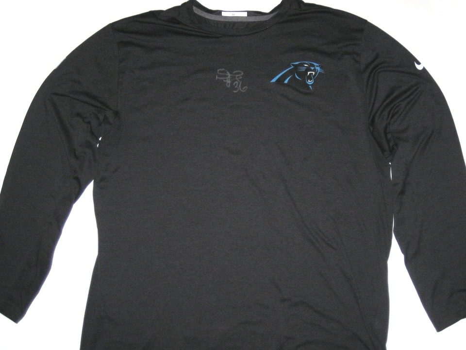 ee03b008 ... white game jersey darrel young player issued signed official carolina  panthers 36 long sleeve nike wholesale nike alfred morris washington  redskins ...