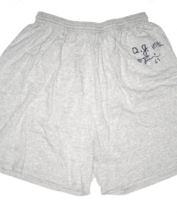 AJ Francis Washington Redskins Signed & Worn Gray Cold Tub Champion 3XL Shorts