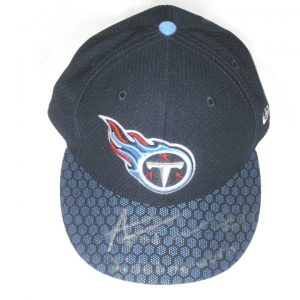Alex Tanney Sideline Worn & Autographed Official Tennessee Titans New Era 59FIFTY Cap