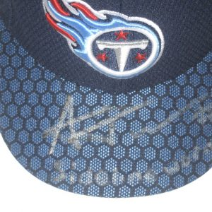 Alex Tanney Sideline Worn & Signed Official Tennessee Titans New Era 59FIFTY Cap