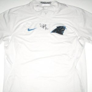 Darrel Young Player Issued & Signed Official Carolina Panthers #36 Nike Pro Shirt