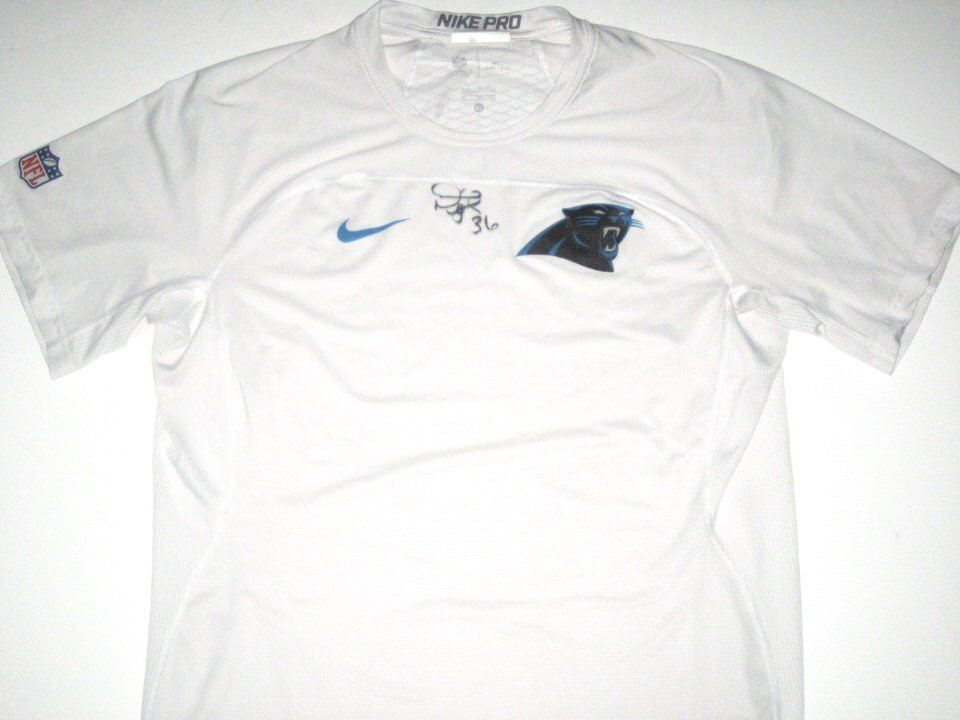 Darrel Young Player Issued   Signed Official Carolina Panthers  36 Nike Pro  Shirt 88fda3d4f