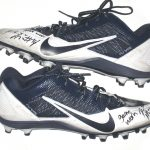 Paul Magloire Arizona Wildcats Game Used & Signed White & Blue Nike Alpha Pro Cleats