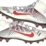 Paul Magloire Arizona Wildcats Game Used & Signed White, Red & Blue Nike Vapor Cleats