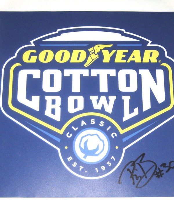 Riley Bullough Autographed Goodyear Cotton Bowl Classic Photo Magnet - From Personal Collection!
