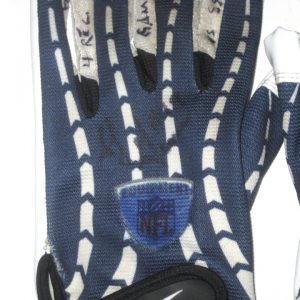 SJ Green Montreal Alouettes Game Worn & Signed Blue & White Reebok Gloves - Worn Vs Roughriders, 4 Catches for 78 Yards and TOUCHDOWN!