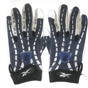 SJ Green Montreal Alouettes Game Used & Signed Blue & White Reebok Gloves - Worn Vs Roughriders, 4 Catches for 78 Yards and TOUCHDOWN!