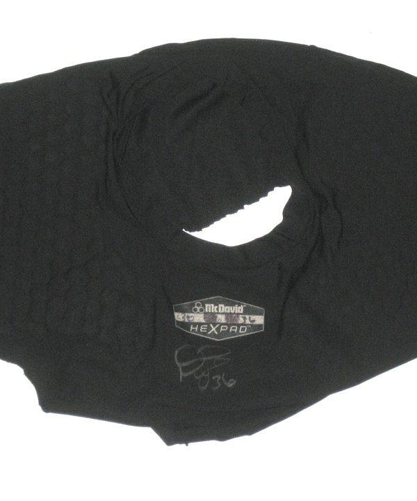Darrel Young Carolina Panthers Practice Worn & Signed Black McDavid Padded Compression Shirt