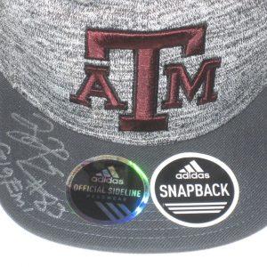 Tony Jerod-Eddie Pre-Owned & Signed Gray & Maroon Texas A&M Aggies Adjustable Snapback Adidas Hat
