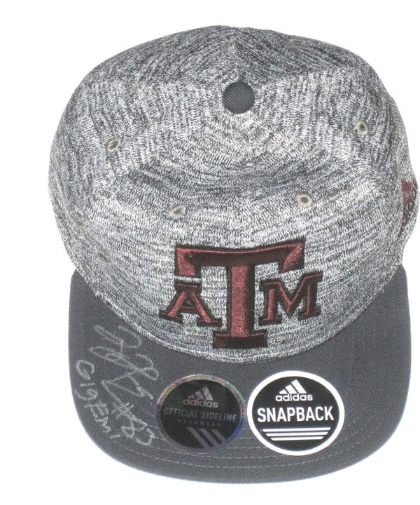 Tony Jerod-Eddie Pre-Owned & Signed Gray & Maroon Texas A&M Aggies Adjustable Snapback Adidas Cap