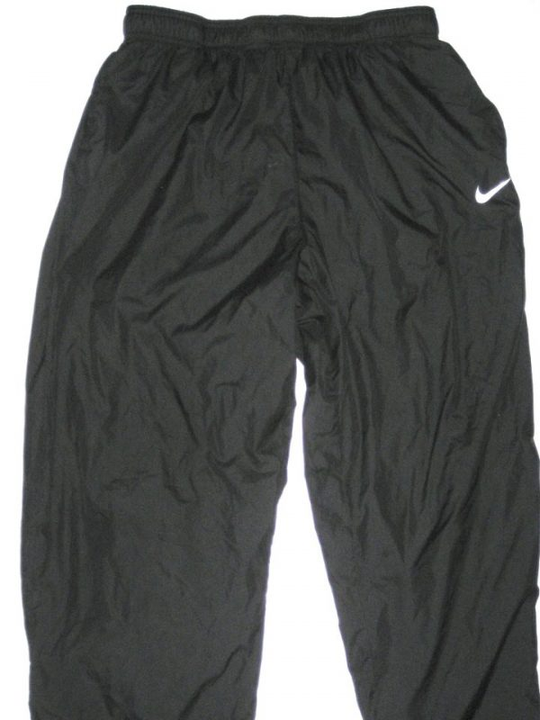 Tony Jerod-Eddie San Francisco 49ers #63 Training Worn Black Nike Wind Pants