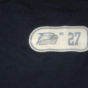 Ironhead Gallon Game Worn & Signed Georgia Southern Eagles #27 Adidas Techfit Sleeveless Shirt