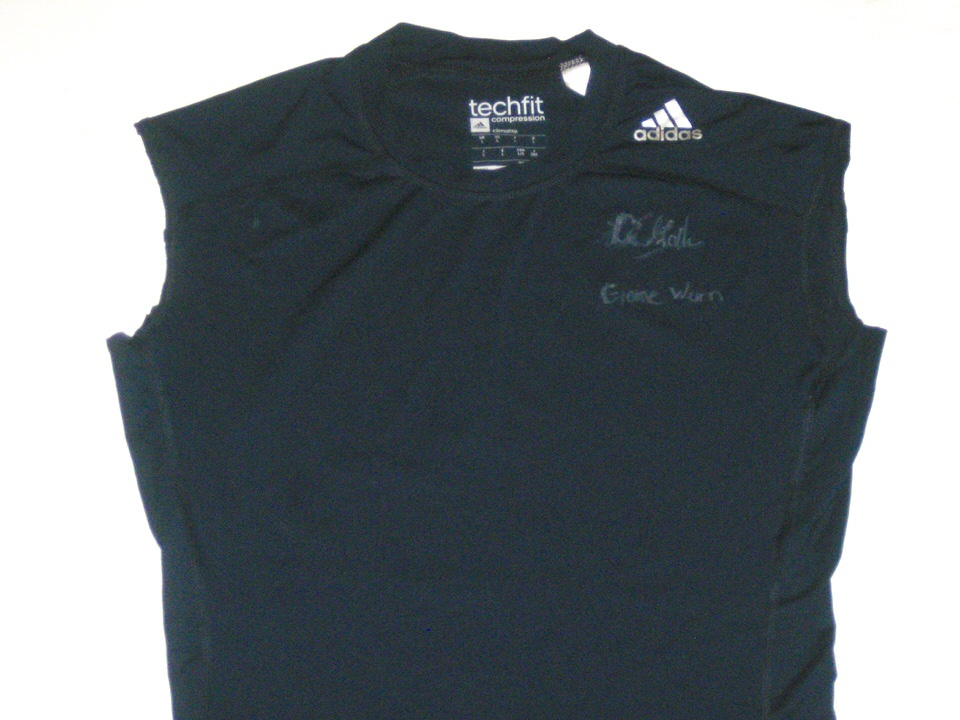 new styles 0a2d5 8a245 Ironhead Gallon Georgia Southern Eagles Game Worn & Signed Navy Blue Adidas  Techfit Compression Shirt