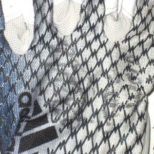 Ironhead Gallon Georgia Southern Eagles Game Worn & Signed White & Blue Adidas Adizero Gloves