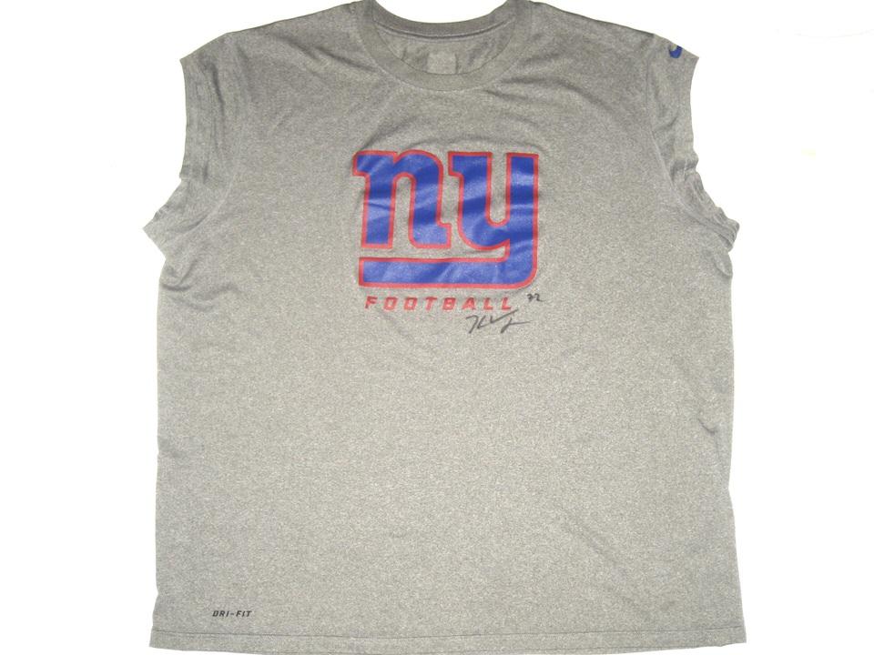 5681556fb Kerry Wynn Training Worn   Signed Gray New York Giants Football Nike Dri-Fit  Sleeveless