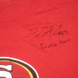 Tony Jerod-Eddie Practice Worn & Signed San Francisco 49ers Pasta Bowl Shirt