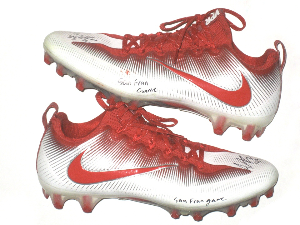 Andrew Adams New York Giants Game Worn & Signed White & Red Nike