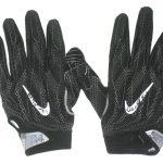 Deon Simon New York Jets Practice Worn & Signed Black & White Nike Superbad 4.0 Gloves