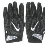 Deon Simon 2017 New York Jets Practice Worn & Signed Black & White Nike Superbad Gloves