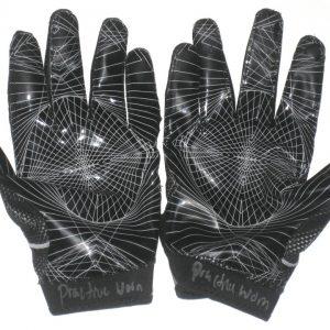 Deon Simon 2017 New York Jets Practice Worn & Signed Black & White Nike Superbad 4.0 Gloves
