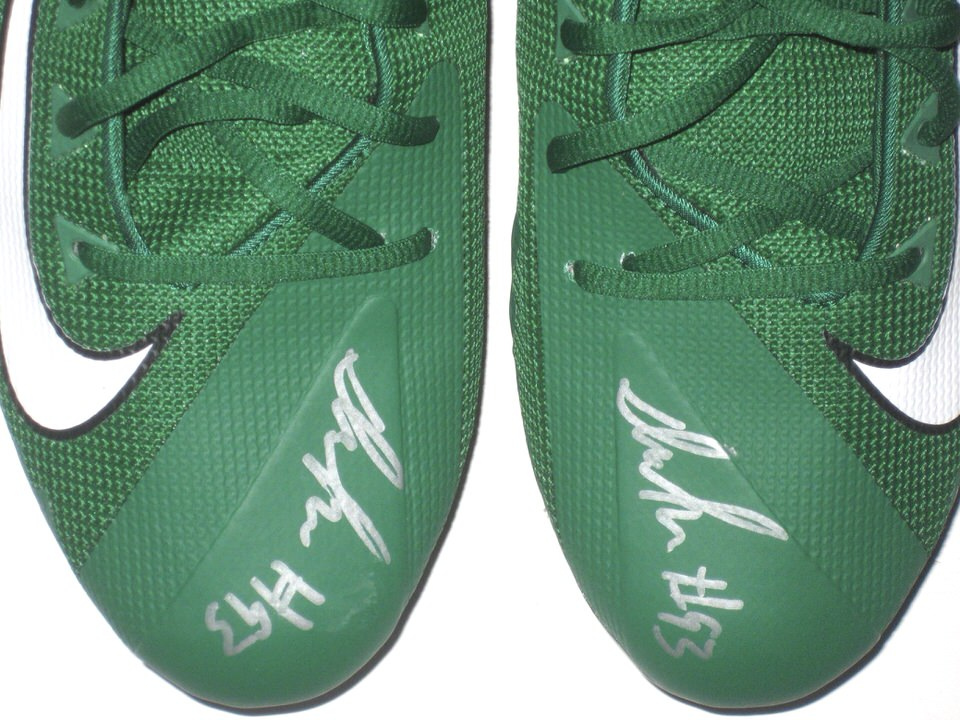 24568f62dec ... Deon Simon New York Jets Game Issued & Signed Green & White Color Rush  Nike Alpha ...