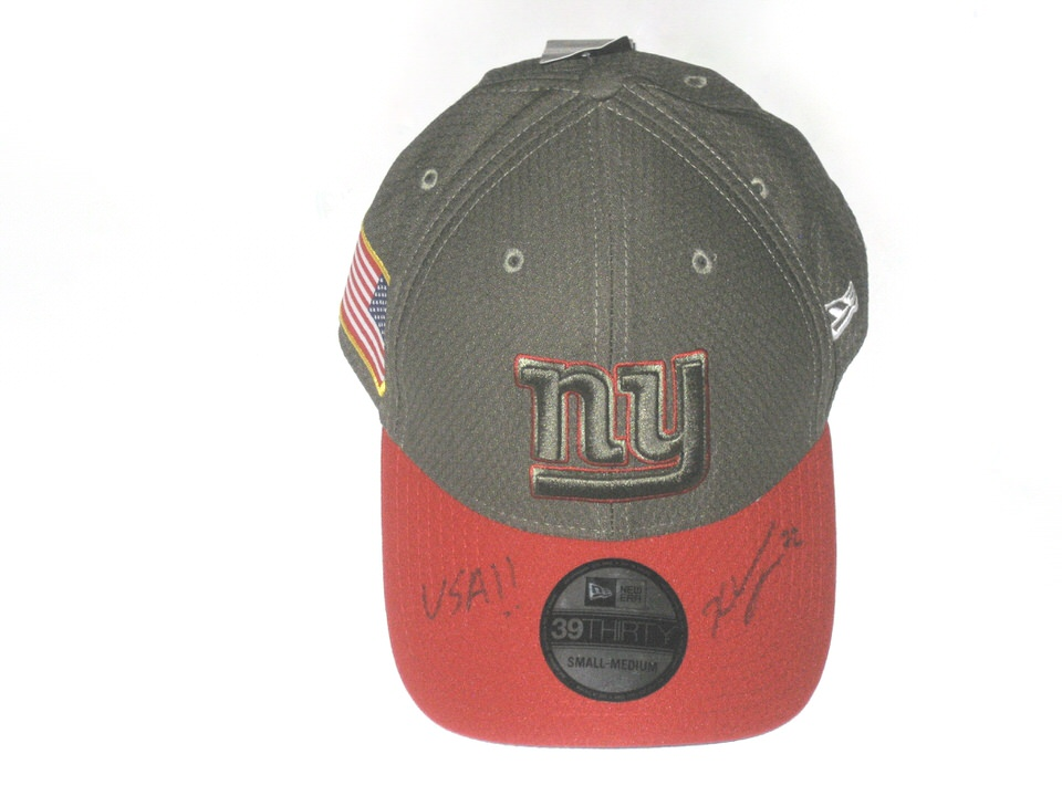 quality design 06bb3 05c6d ... best price kerry wynn autographed official new york giants salute to  service new era 39thirty flex