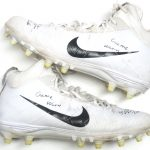 Orleans Darkwa 2017 New York Giants Game Used & Signed White & Black Nike Field General Cleats