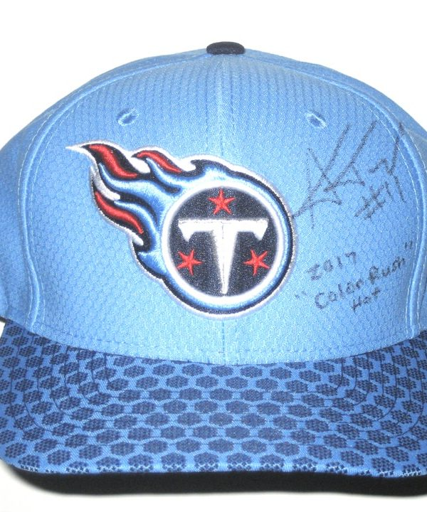 cheap for discount 88918 d75ec ... hat nfl 99e8b ac8cf  coupon code for alex tanney signed tennessee  titans 2017 color rush game new era 9fifty snapback