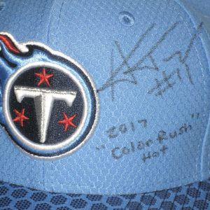 Alex Tanney Signed Tennessee Titans 2017 Color Rush Game New Era 9FIFTY Snapback Adjustable Hat