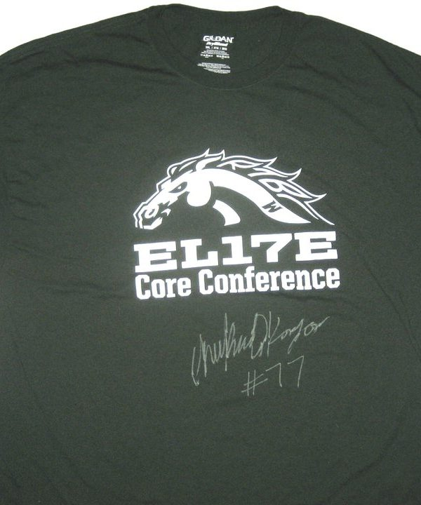 Chukwuma Okorafor Training Worn & Signed Green Western Michigan Broncos Gildan Shirt