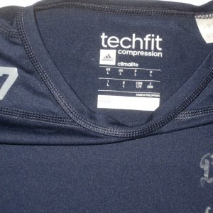Ironhead Gallon Georgia Southern Eagles #27 Game Worn & Signed Blue Long Sleeve Adidas Compression Shirt