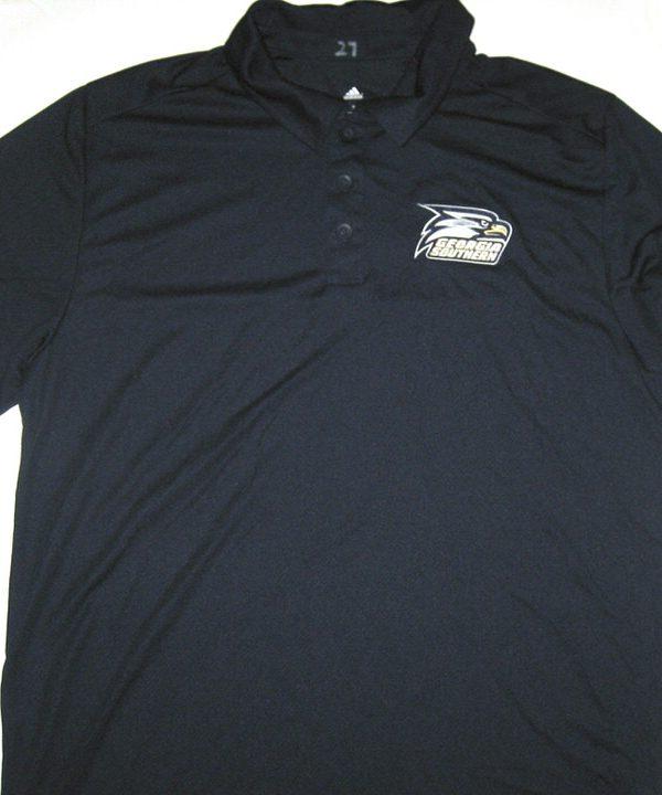 Ironhead Gallon Travel Worn Official Blue Georgia Southern Eagles GoDaddy Bowl Adidas Polo Shirt