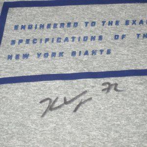 Kerry Wynn 2017 Training Worn & Signed Gray New York Giants Nike Dri-Fit XXL Shirt