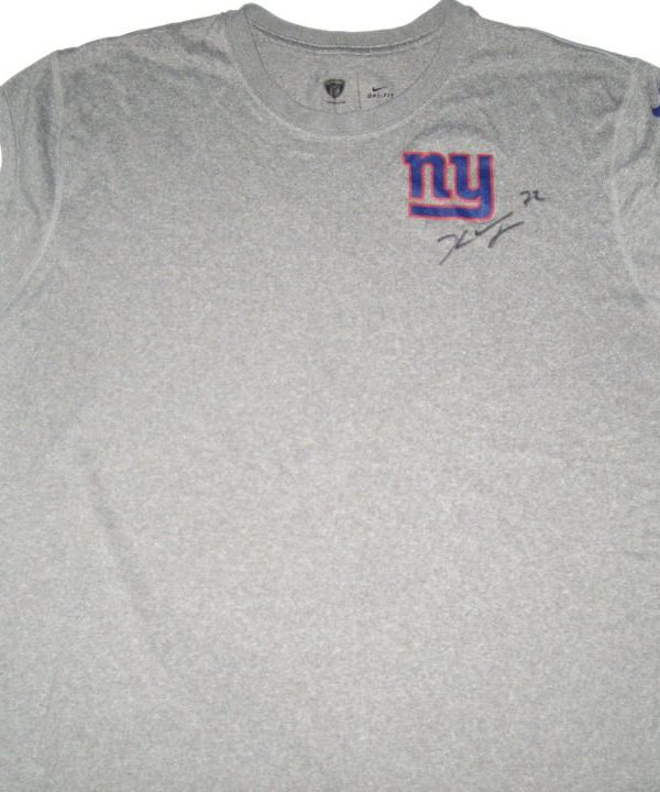 Kerry Wynn Practice Worn & Signed Gray New York Giants Nike Dri-Fit Sleeveless