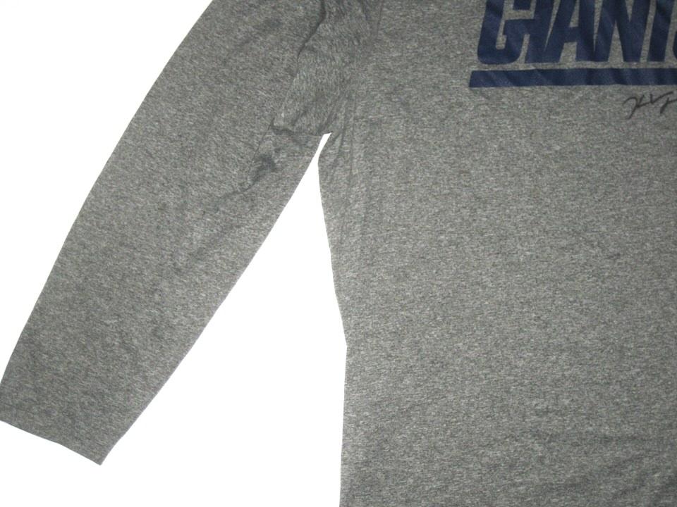 ... Kerry Wynn Training Worn   Signed New York Giants Long Sleeve Nike Shirt  ... b835a0ba6