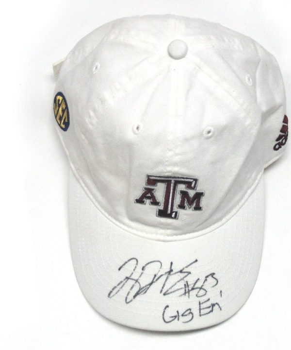Tony Jerod-Eddie Pre-Owned & Autographed White Texas A&M Aggies Adidas Hat