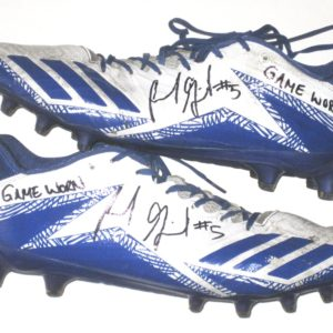 Frank Ginda San Jose State Spartans Game Used & Signed White & Blue Adidas Freak Cleats