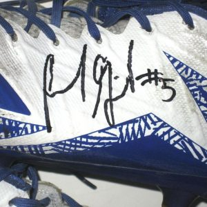 Frank Ginda San Jose State Spartans Game Worn & Signed White & Blue Adidas Freak Cleats