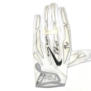 Jay Bromley New York Giants Game Used & Signed White & Black Nike Superbad 4.0 Glove