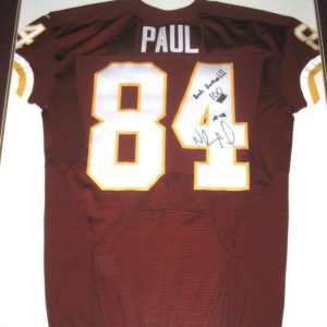 Niles Paul Signed & Framed Washington Redskins Jersey - Personalized to Former Redskins Teammate & Bash Brother Darrel Young!!!