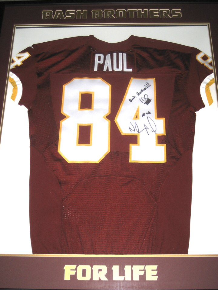 82451fa7b Niles Paul Autographed & Framed Washington Redskins Jersey – Personalized  to Former Redskins Teammate & Bash Brother Darrel Young!!!