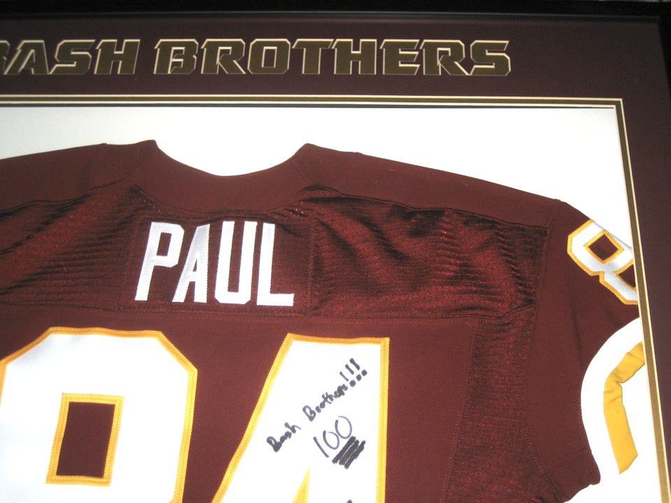 cheap for discount 3f427 98697 Niles Paul Autographed & Framed Washington Redskins Jersey - Personalized  to Former Redskins Teammate & Bash Brother Darrel Young!!!