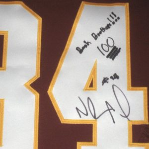 Niles Paul Autographed & Framed Washington Redskins Jersey - Personalized to Former Redskins Teammate & Bash Brother Darrel Young!!!