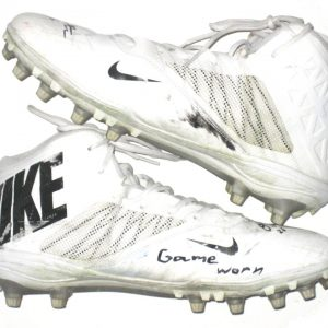 Orleans Darkwa 2017 New York Giants Game Used & Signed White & Black Nike Cleats