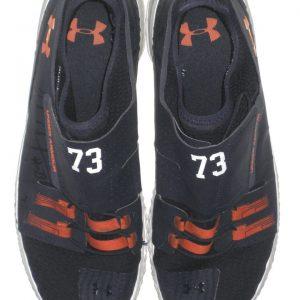 Austin Golson Auburn Tigers #73 Training Worn & Signed Blue & Orange Under Armour Shoes