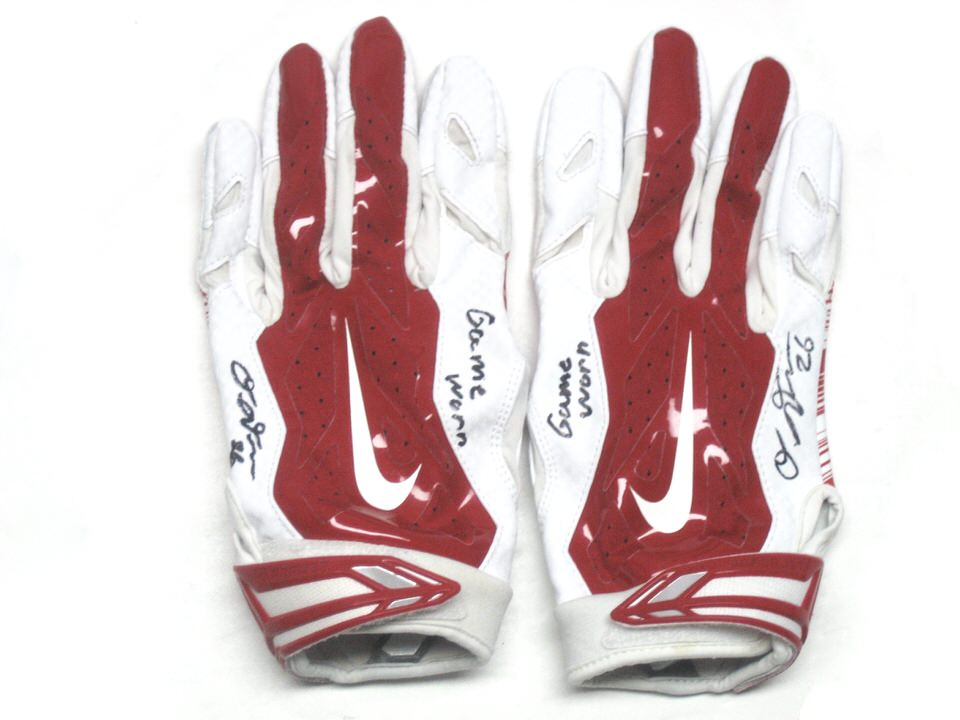 newest 446dd 72e59 red and white football gloves