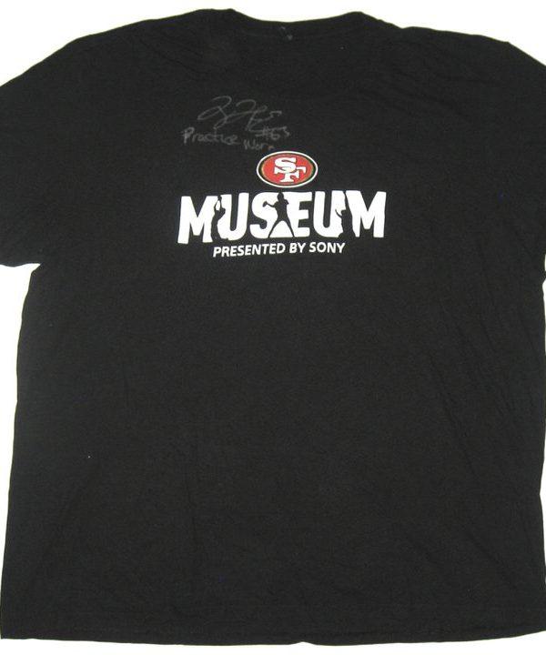 hot sale online fc695 4fb00 Tony Jerod-Eddie Practice Worn & Signed Black San Francisco 49ers Museum  3XL Shirt